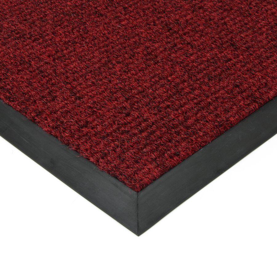 Červená textilní vstupní vnitřní čistící zátěžová rohož Catrine, FLOMAT - délka 90 cm, šířka 130 cm a výška 1,35 cm