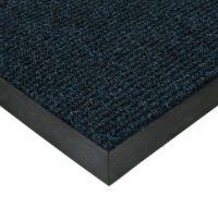 Modrá textilní vstupní vnitřní čistící zátěžová rohož Catrine, FLOMAT - délka 200 cm, šířka 200 cm a výška 1,35 cm