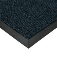 Modrá textilní vstupní vnitřní čistící zátěžová rohož Catrine, FLOMAT - délka 200 cm, šířka 300 cm a výška 1,35 cm