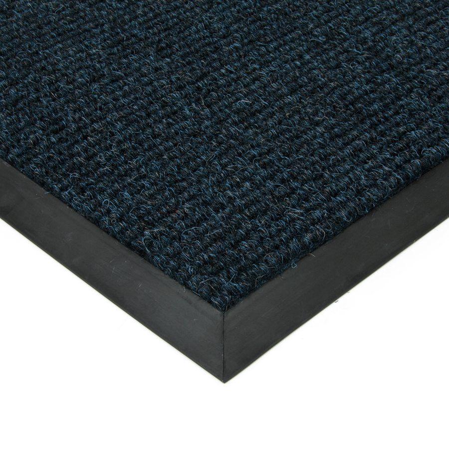 Modrá textilní vstupní vnitřní čistící zátěžová rohož Catrine, FLOMAT - délka 50 cm, šířka 90 cm a výška 1,35 cm