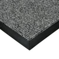 Šedá textilní vstupní vnitřní čistící zátěžová rohož Catrine, FLOMAT - délka 110 cm, šířka 160 cm a výška 1,35 cm