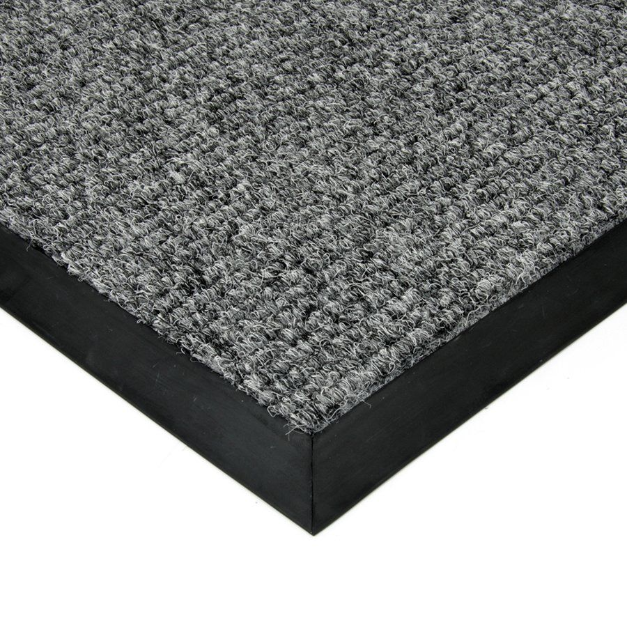Šedá textilní vstupní vnitřní čistící zátěžová rohož Catrine, FLOMAT - délka 500 cm, šířka 200 cm a výška 1,35 cm