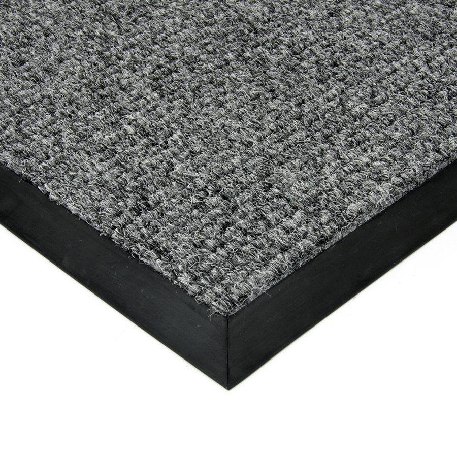Šedá textilní vstupní vnitřní čistící zátěžová rohož Catrine, FLOMAT - délka 90 cm, šířka 130 cm a výška 1,35 cm