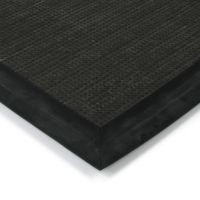 Tmavě hnědá textilní vstupní vnitřní čistící zátěžová rohož Catrine, FLOMAT - délka 500 cm, šířka 300 cm a výška 1,35 cm