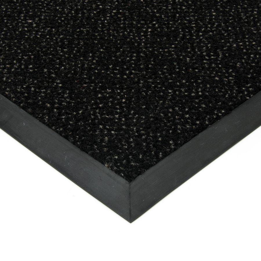 Černá textilní vstupní vnitřní čistící rohož Cleopatra Extra, FLOMAT (Bfl-S1) - délka 80 cm, šířka 100 cm a výška 1 cm