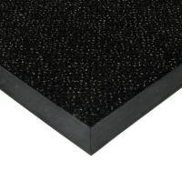 Černá textilní vstupní vnitřní čistící rohož Cleopatra Extra, FLOMAT (Bfl-S1) - délka 100 cm, šířka 100 cm a výška 1 cm