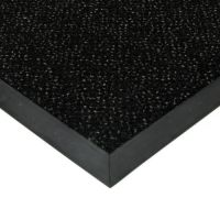 Černá textilní vstupní vnitřní čistící rohož Cleopatra Extra, FLOMAT (Bfl-S1) - délka 200 cm, šířka 100 cm a výška 1 cm