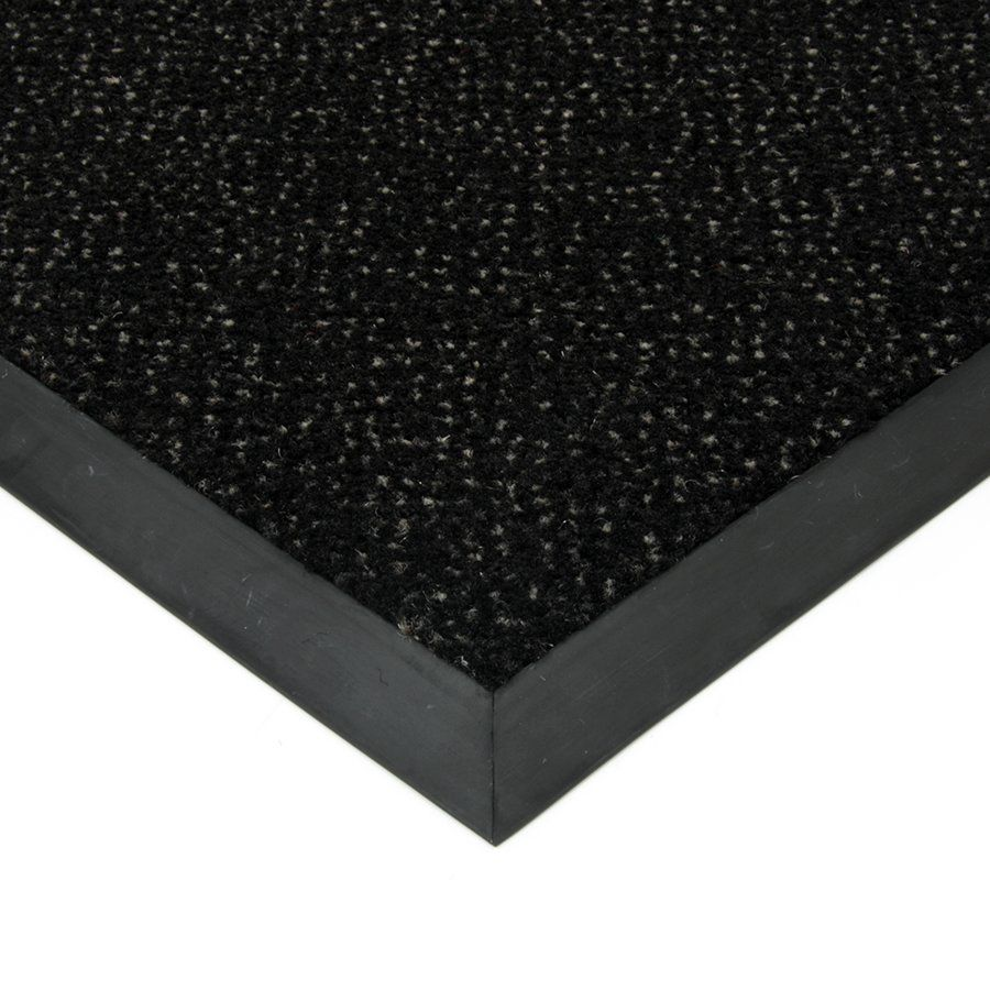 Černá textilní vstupní vnitřní čistící rohož Cleopatra Extra, FLOMAT (Bfl-S1) - délka 200 cm, šířka 190 cm a výška 1 cm