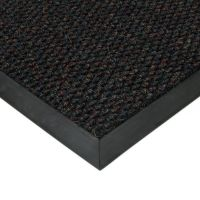 Černá textilní vstupní vnitřní čistící zátěžová rohož Fiona, FLOMAT - délka 200 cm, šířka 100 cm a výška 1,1 cm