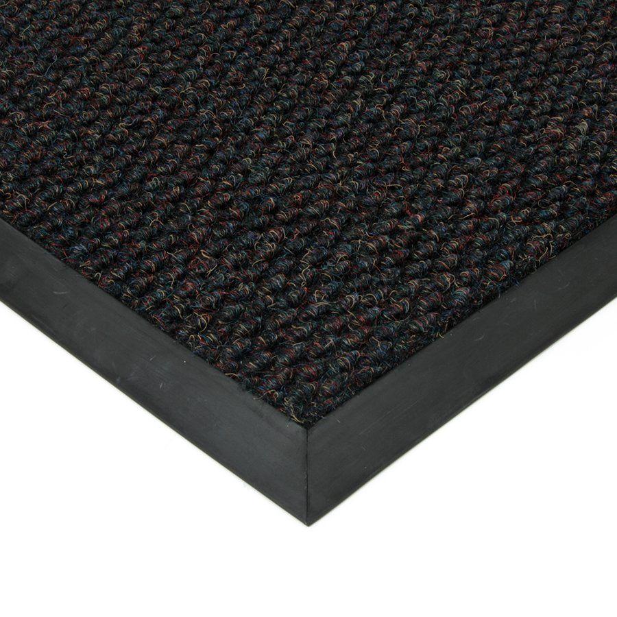 Černá textilní vstupní vnitřní čistící zátěžová rohož Fiona, FLOMAT - délka 110 cm, šířka 160 cm a výška 1,1 cm