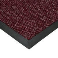 Červená textilní vstupní vnitřní čistící zátěžová rohož Fiona, FLOMAT - délka 100 cm, šířka 100 cm a výška 1,1 cm
