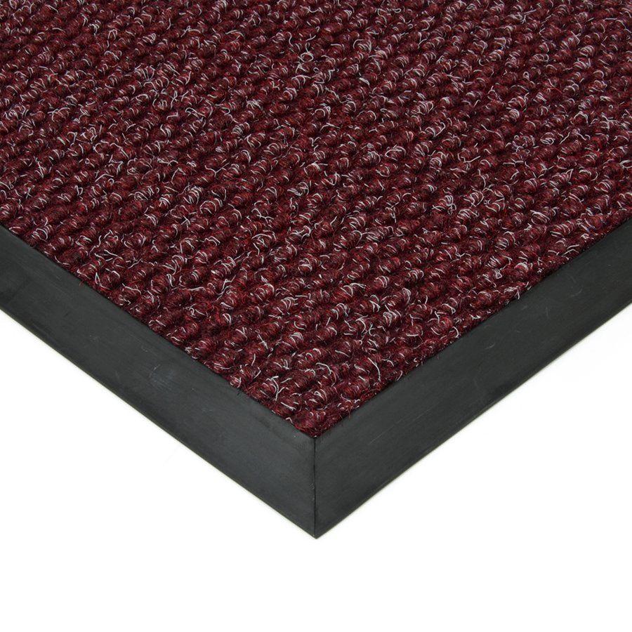 Červená textilní vstupní vnitřní čistící zátěžová rohož Fiona, FLOMAT - délka 90 cm, šířka 140 cm a výška 1,1 cm