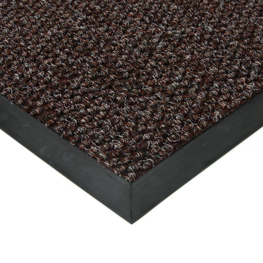 Hnědá textilní vstupní vnitřní čistící zátěžová rohož Fiona, FLOMAT - délka 80 cm, šířka 120 cm a výška 1,1 cm