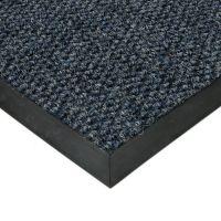 Modrá textilní vstupní vnitřní čistící zátěžová rohož Fiona, FLOMAT - délka 50 cm, šířka 90 cm a výška 1,1 cm