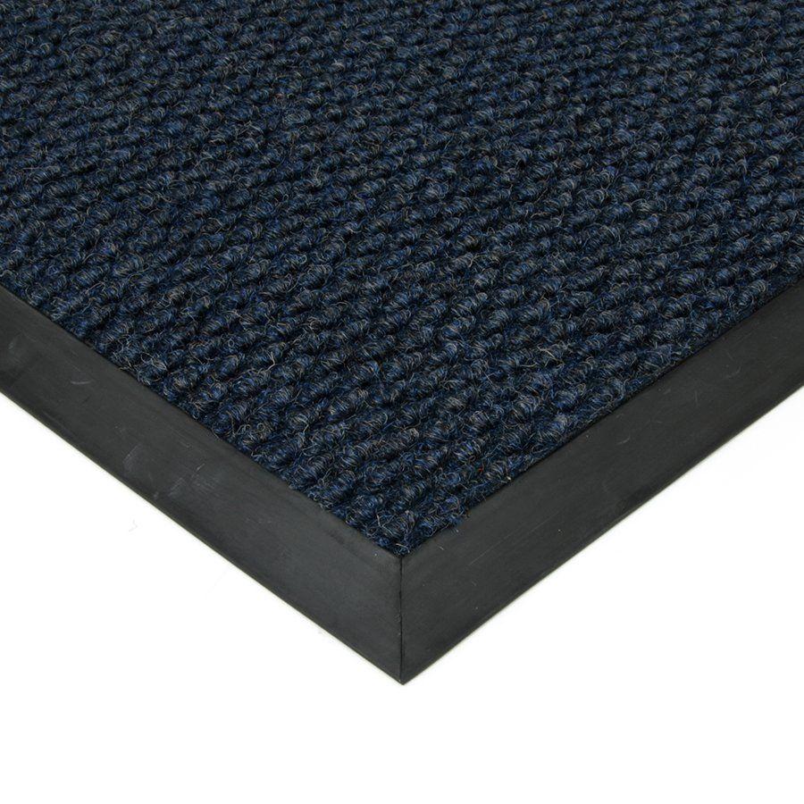 Modrá textilní vstupní vnitřní čistící zátěžová rohož Fiona, FLOMAT - délka 60 cm, šířka 90 cm a výška 1,1 cm