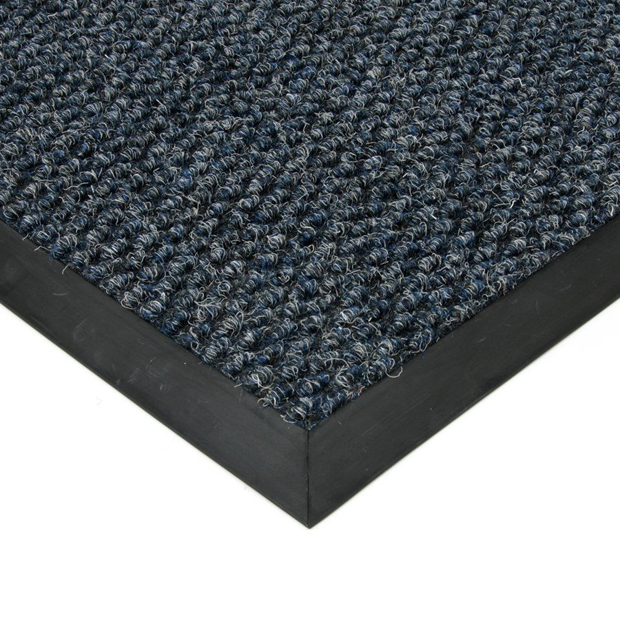 Modrá textilní vstupní vnitřní čistící zátěžová rohož Fiona, FLOMAT - délka 300 cm, šířka 100 cm a výška 1,1 cm