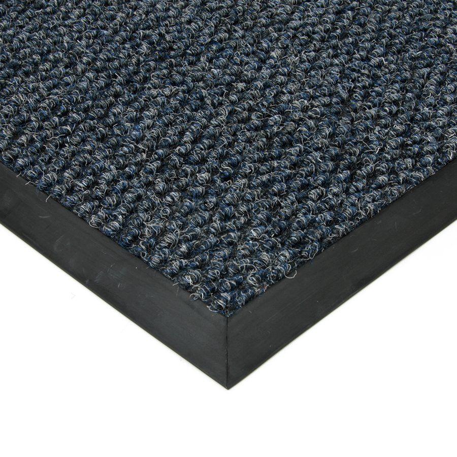 Modrá textilní vstupní vnitřní čistící zátěžová rohož Fiona, FLOMAT - délka 90 cm, šířka 140 cm a výška 1,1 cm