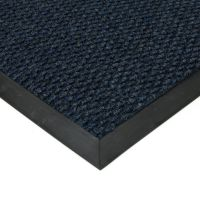 Modrá textilní vstupní vnitřní čistící zátěžová rohož Fiona, FLOMAT - délka 50 cm, šířka 80 cm a výška 1,1 cm