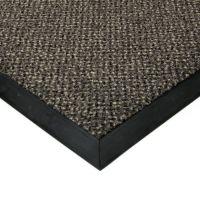 Šedá textilní vstupní vnitřní čistící rohož Cleopatra Extra, FLOMAT (Bfl-S1) - délka 90 cm, šířka 140 cm a výška 1 cm