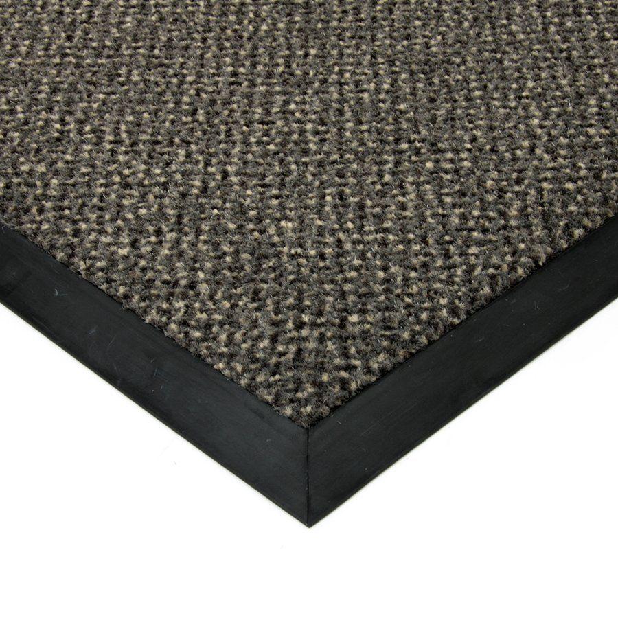 Šedá textilní čistící vnitřní vstupní rohož Cleopatra Extra, FLOMAT (Bfl-S1) - délka 110 cm, šířka 160 cm a výška 1 cm