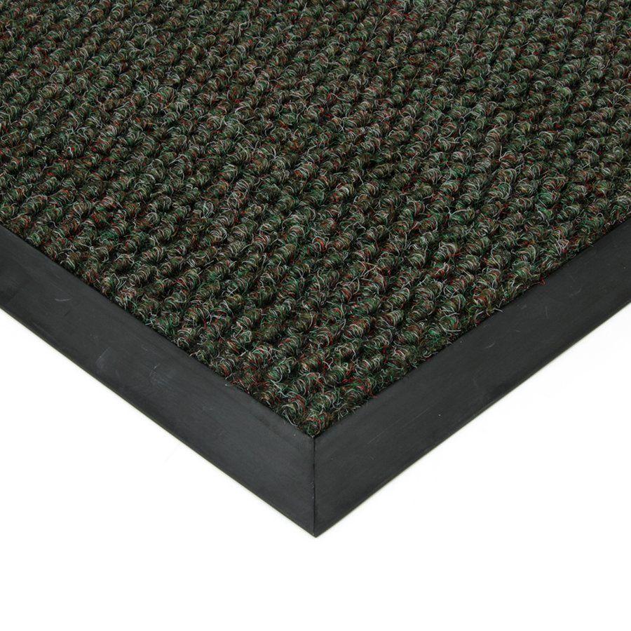 Zelená textilní vstupní vnitřní čistící zátěžová rohož Fiona, FLOMAT - délka 80 cm, šířka 100 cm a výška 1,1 cm
