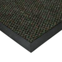 Zelená textilní vstupní vnitřní čistící zátěžová rohož Fiona, FLOMAT - délka 100 cm, šířka 100 cm a výška 1,1 cm
