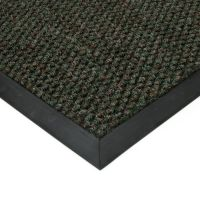 Zelená textilní vstupní vnitřní čistící zátěžová rohož Fiona, FLOMAT - délka 50 cm, šířka 90 cm a výška 1,1 cm
