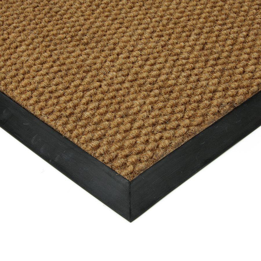 Béžová textilní vstupní vnitřní čistící zátěžová rohož Fiona, FLOMAT - délka 90 cm, šířka 140 cm a výška 1,1 cm