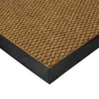 Béžová textilní vstupní vnitřní čistící zátěžová rohož Fiona, FLOMAT - délka 150 cm, šířka 150 cm a výška 1,1 cm