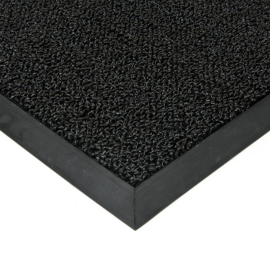 Černá plastová vstupní vnitřní venkovní čistící zátěžová rohož Rita, FLOMAT - délka 300 cm, šířka 150 cm a výška 1 cm
