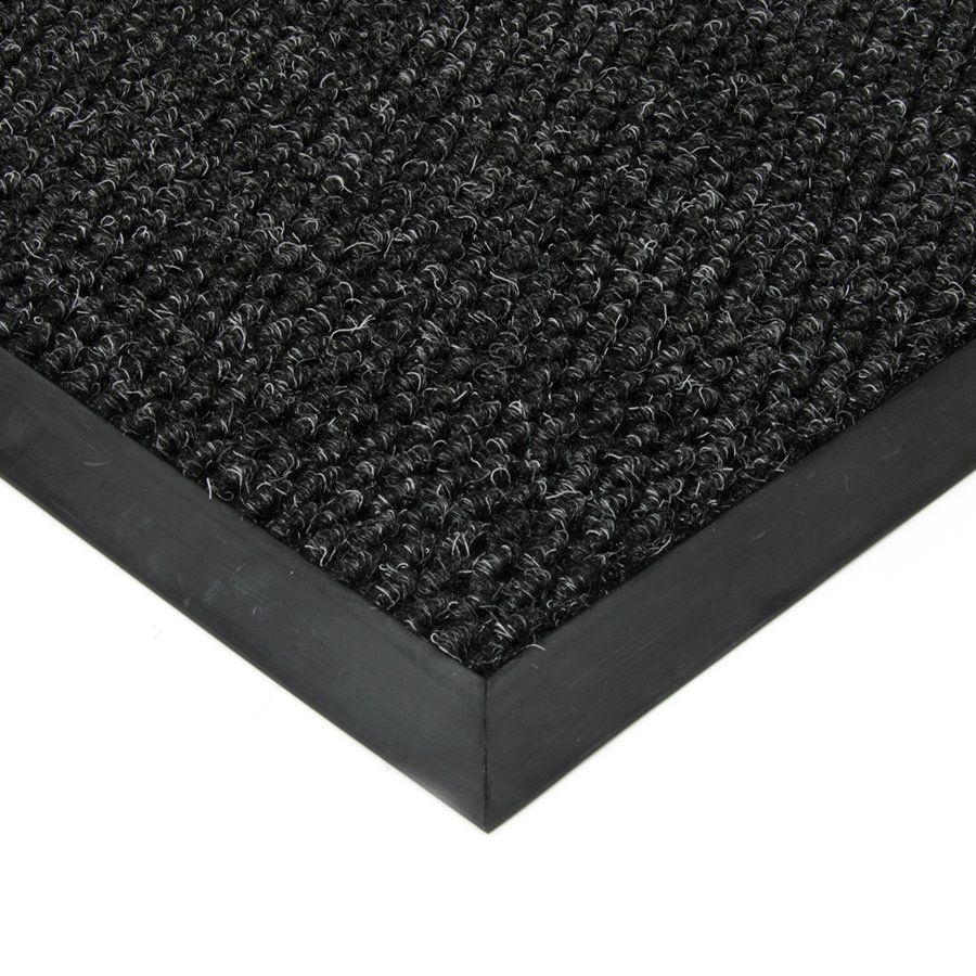Černá textilní zátěžová čistící vnitřní vstupní rohož Fiona, FLOMAT - délka 200 cm, šířka 100 cm a výška 1,1 cm