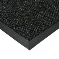 Černá textilní vstupní vnitřní čistící zátěžová rohož Fiona, FLOMAT - délka 60 cm, šířka 90 cm a výška 1,1 cm