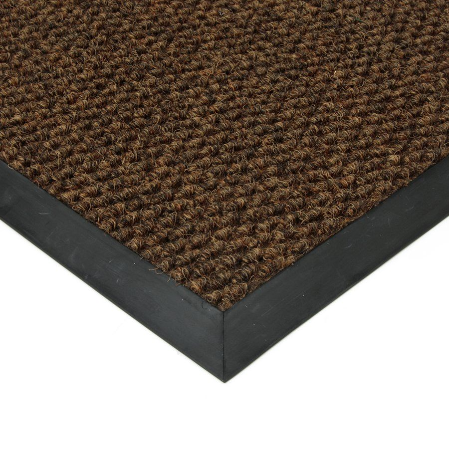 Hnědá textilní vstupní vnitřní čistící zátěžová rohož Fiona, FLOMAT - délka 200 cm, šířka 150 cm a výška 1,1 cm