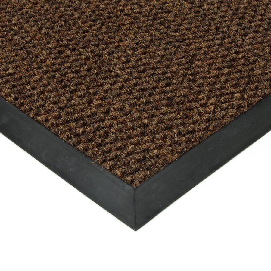 Hnědá textilní vstupní vnitřní čistící zátěžová rohož Fiona, FLOMAT - délka 130 cm, šířka 180 cm a výška 1,1 cm