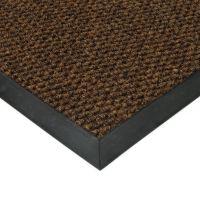 Hnědá textilní vstupní vnitřní čistící zátěžová rohož Fiona, FLOMAT - délka 200 cm, šířka 200 cm a výška 1,1 cm