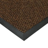 Hnědá textilní vstupní vnitřní čistící zátěžová rohož Fiona, FLOMAT - délka 400 cm, šířka 200 cm a výška 1,1 cm