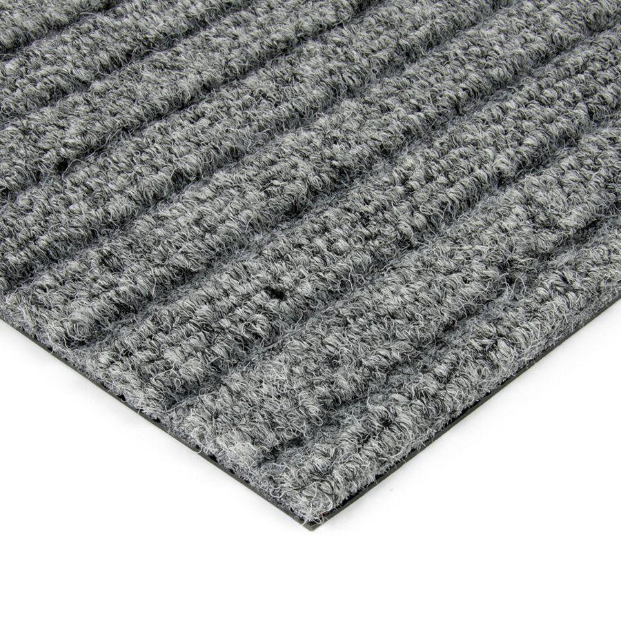 Šedá kobercová vnitřní čistící zóna Shakira, FLOMAT - délka 100 cm, šířka 100 cm a výška 1,6 cm