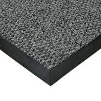 Šedá textilní vstupní vnitřní čistící zátěžová rohož Fiona, FLOMAT - délka 90 cm, šířka 130 cm a výška 1,1 cm