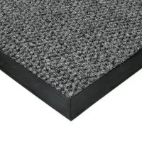 Šedá textilní vstupní vnitřní čistící zátěžová rohož Fiona, FLOMAT - délka 150 cm, šířka 150 cm a výška 1,1 cm