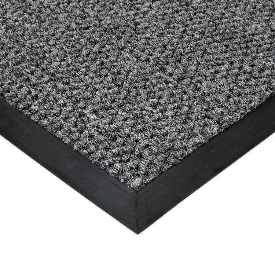 Šedá textilní vstupní vnitřní čistící zátěžová rohož Fiona, FLOMAT - délka 110 cm, šířka 160 cm a výška 1,1 cm