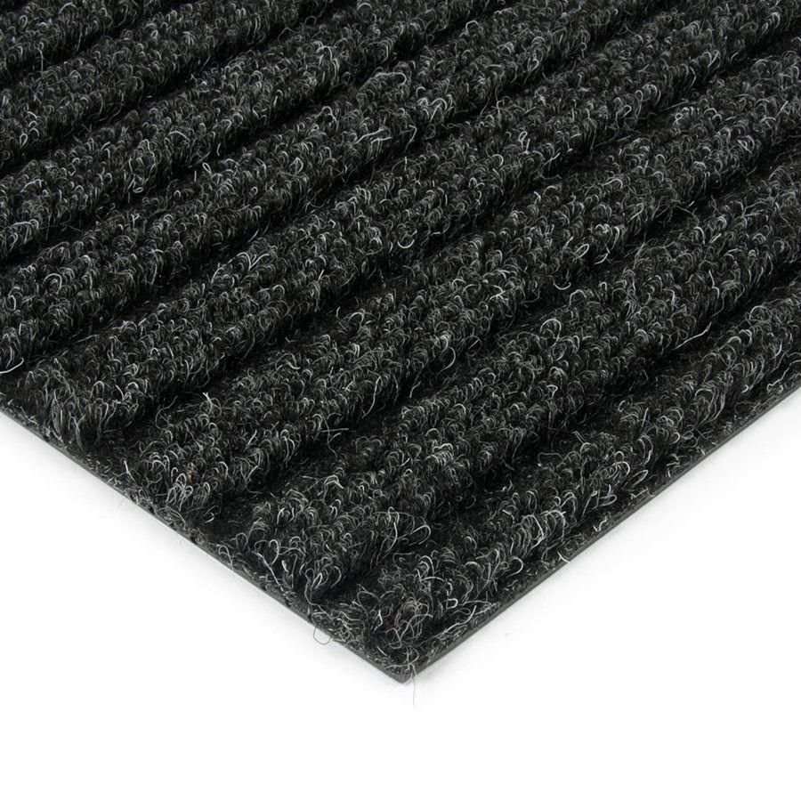 Černá kobercová vnitřní čistící zóna Shakira, FLOMAT - délka 150 cm, šířka 100 cm a výška 1,6 cm