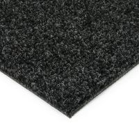 Černá kobercová vnitřní čistící zóna Catrine, FLOMAT - délka 200 cm, šířka 200 cm a výška 1,35 cm