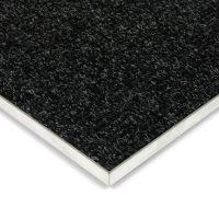 Černá kobercová vnitřní čistící zóna Catrine, FLOMAT - délka 50 cm, šířka 100 cm a výška 1,35 cm