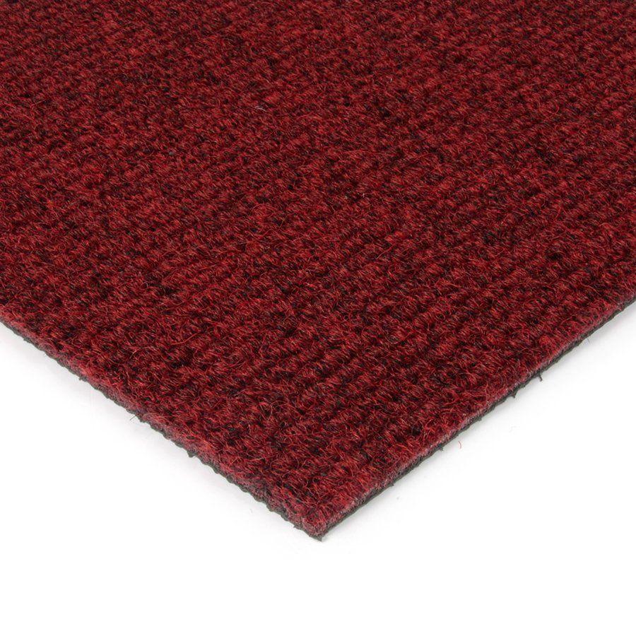 Červená kobercová vnitřní čistící zóna Catrine, FLOMAT - délka 200 cm, šířka 200 cm a výška 1,35 cm