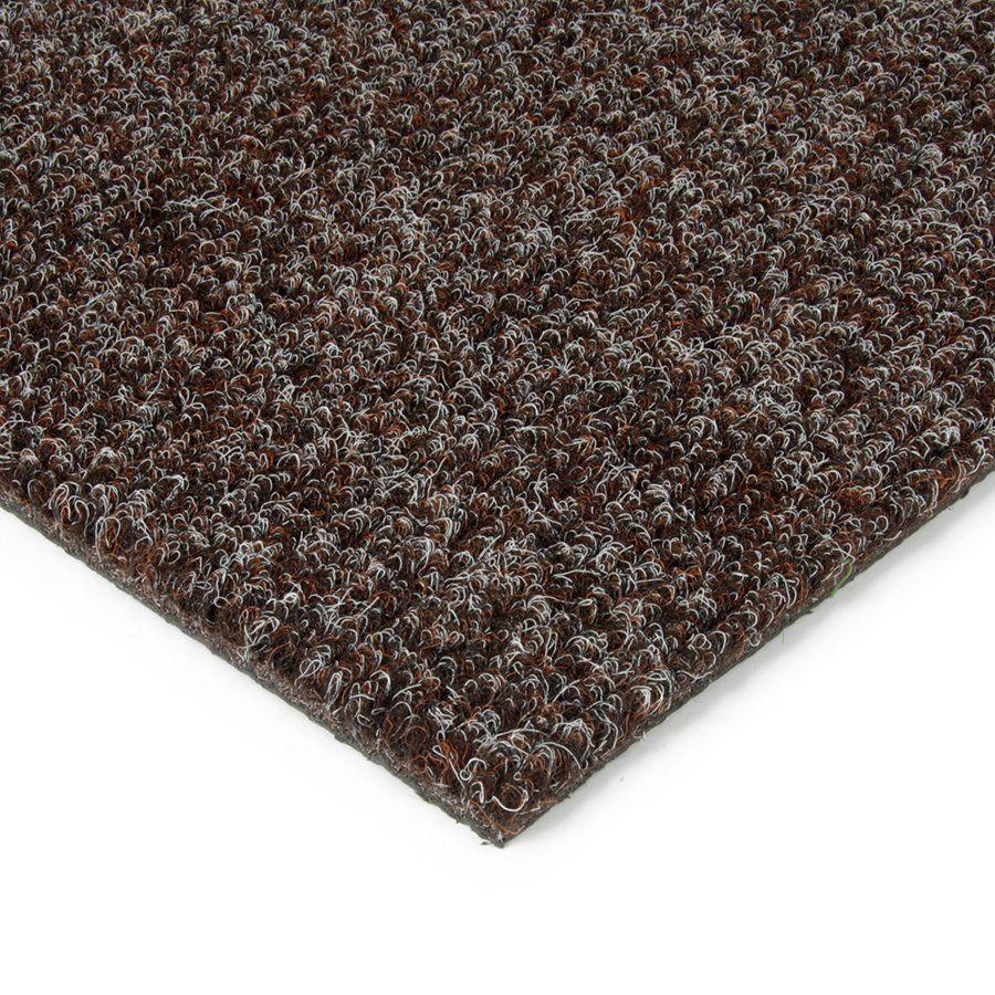 Tmavě hnědá kobercová vnitřní čistící zóna Catrine, FLOMAT - délka 100 cm, šířka 100 cm a výška 1,35 cm