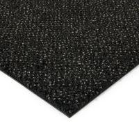 Černá kobercová vnitřní čistící zóna Cleopatra Extra, FLOMAT (Bfl-S1) - délka 150 cm, šířka 100 cm a výška 1 cm