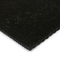 Černá kobercová vnitřní zátěžová čistící zóna Fiona, FLOMAT - délka 100 cm, šířka 100 cm a výška 1,1 cm