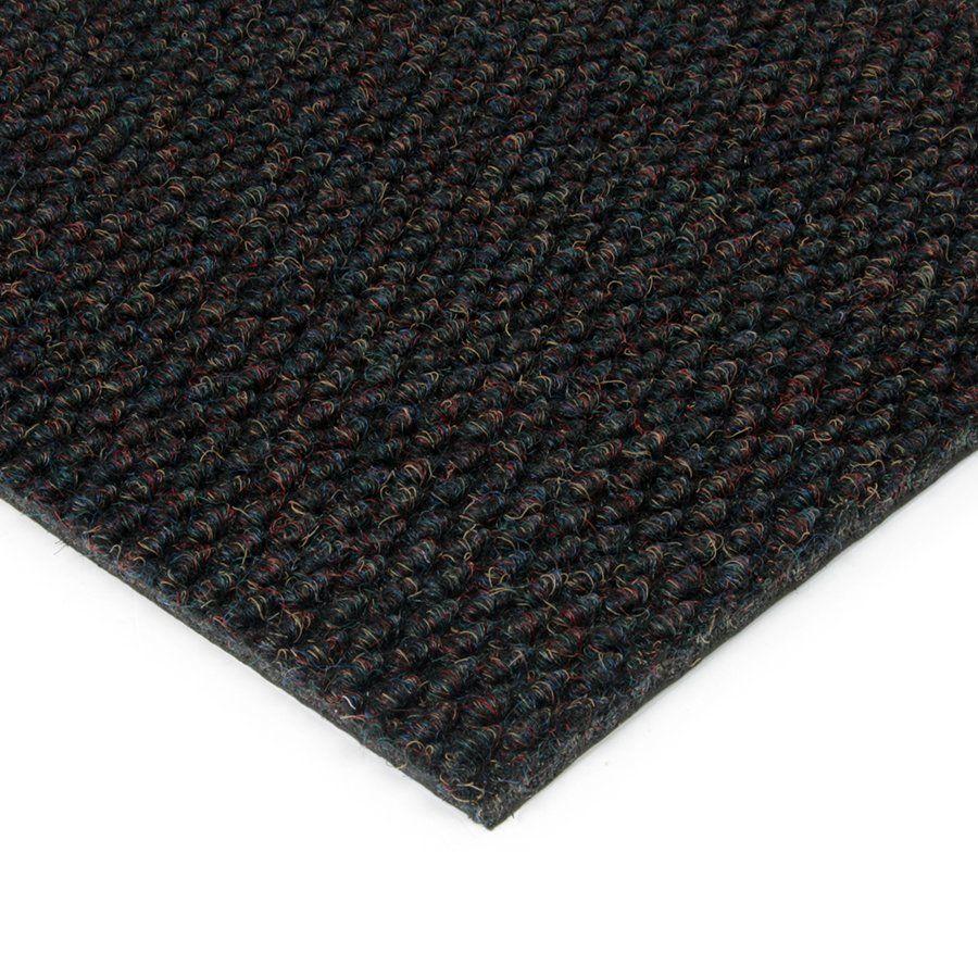 Černá kobercová vnitřní zátěžová čistící zóna Fiona, FLOMAT - délka 50 cm, šířka 200 cm a výška 1,1 cm