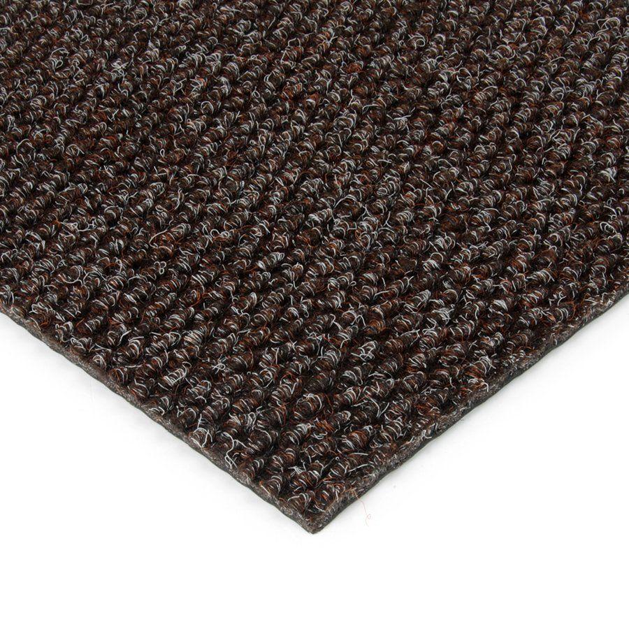 Hnědá kobercová vnitřní zátěžová čistící zóna Fiona, FLOMAT - délka 100 cm, šířka 100 cm a výška 1,1 cm