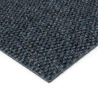 Modrá kobercová vnitřní zátěžová čistící zóna Fiona, FLOMAT - délka 50 cm, šířka 100 cm a výška 1,1 cm